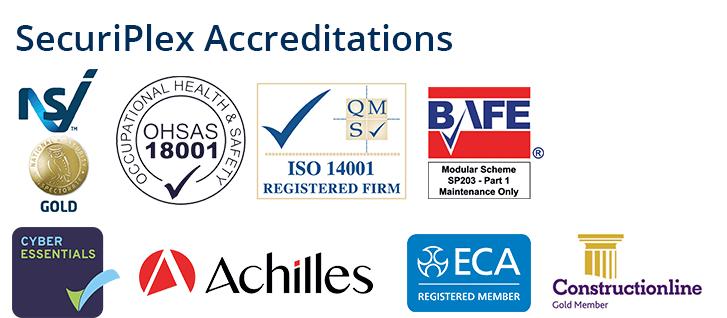 SecuriPlex accreditations