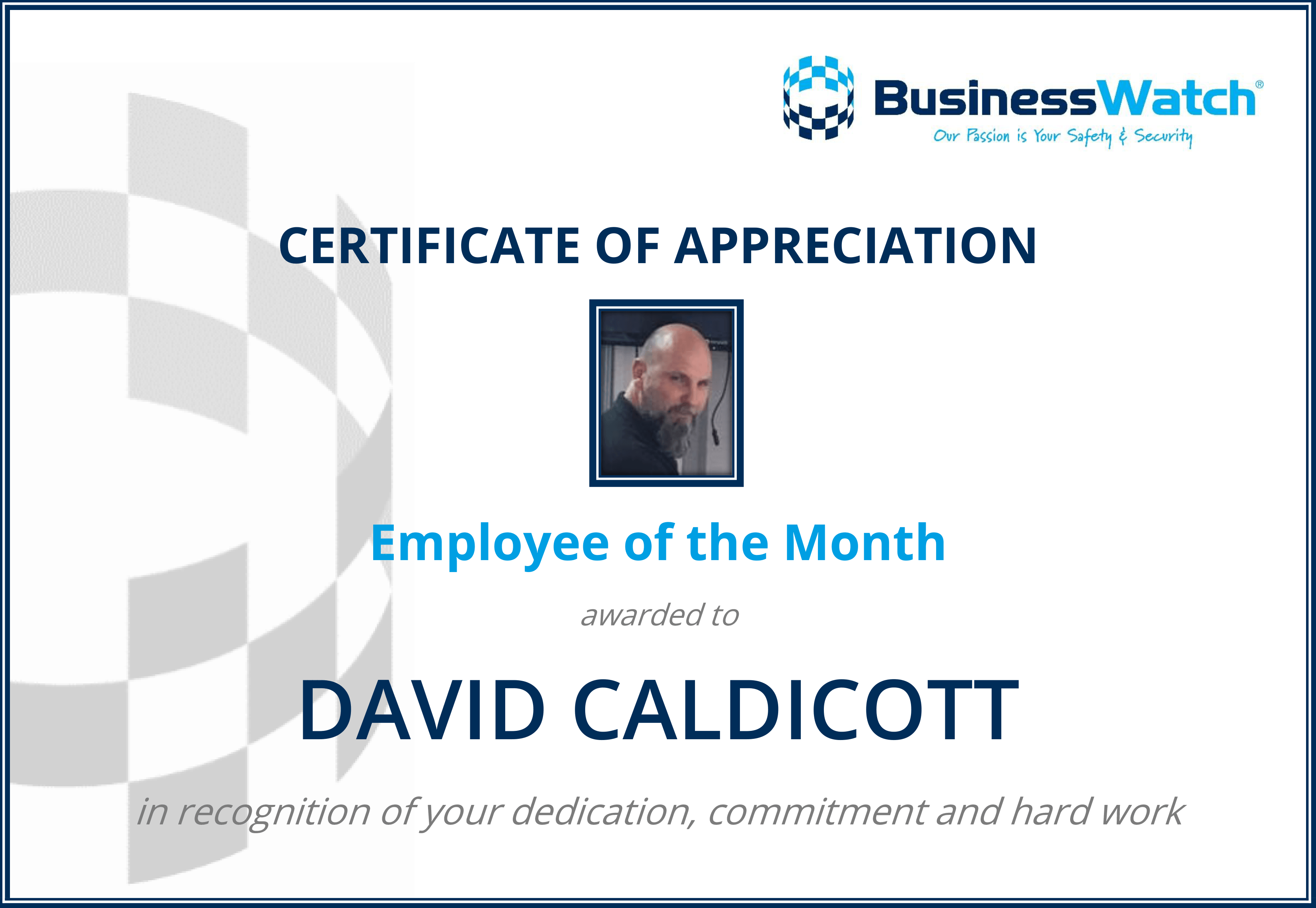 Employee of the Month - July 2019