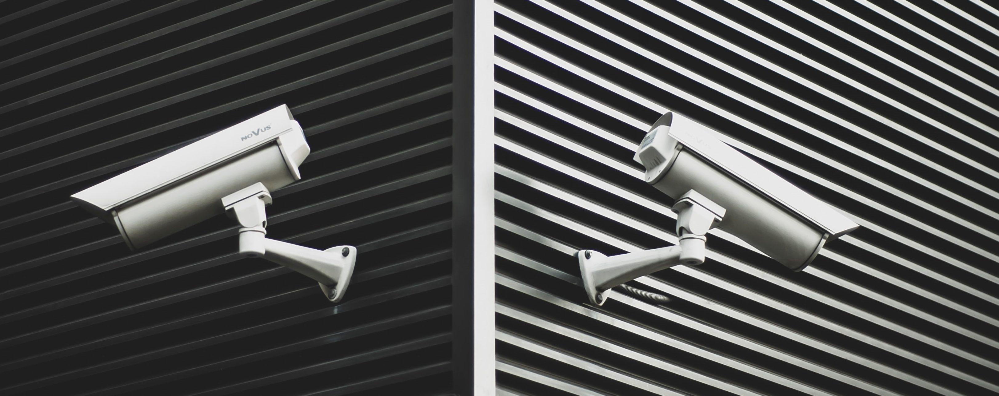 CCTV cameras on building