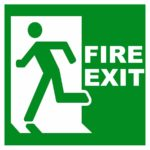 Fire exit image square