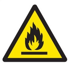 fire risk warning fire safety sign