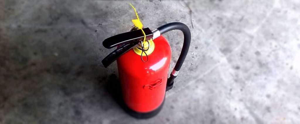 Red and Yellow Fire Extinguisher