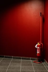 Fire Extinguisher on Stand