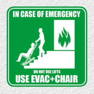 Fire Evacuation Chair Emergency Signage
