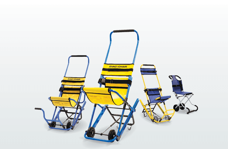 Four different variations of Evacuation Chair
