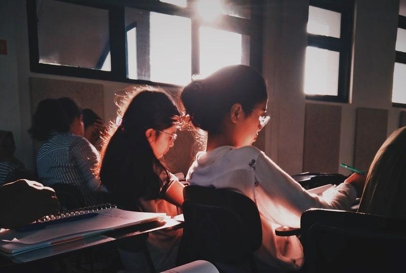 Pupils in a school classroom